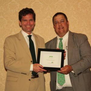 "Rep. Grier Martin receives ""The Joe"" award at 2012 Green Tie"