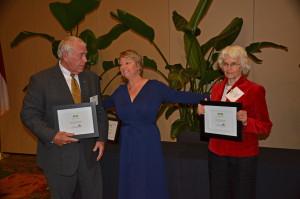 "Rep. Tolson and Senator Kinnaird receive ""The Joe"" awards at 2014 Green Tie"