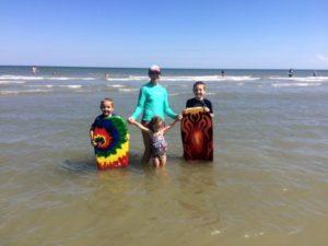 Cheryl and her family enjoying the NC coast