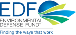 Logo for the Environmental Defense Fund: finding the ways that work