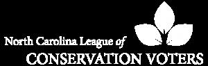 North Carolina League of Conservation Voters full white logo
